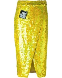 Falda en amarillo verdoso de Filles a papa