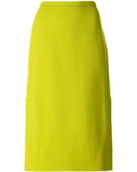 Falda en amarillo verdoso de Marni