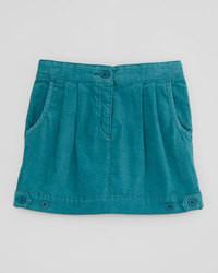 Falda en verde azulado