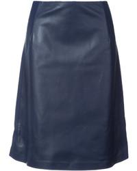 Falda en verde azulado de Carolina Herrera