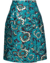 Falda en verde azulado de Dolce & Gabbana