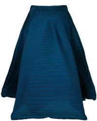 Falda en verde azulado de Issey Miyake