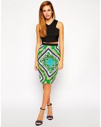 Moda Looks Moda Falda Estampada Una De Combinar Verde 5 Cómo S6vpqwp