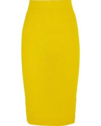 Falda lápiz amarilla de J.Crew