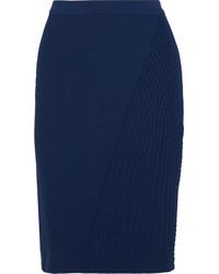 Falda lápiz azul marino de Fendi