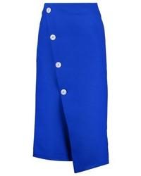 Falda Lápiz Azul de Topshop