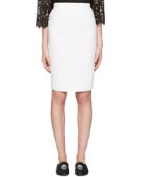 Falda Lápiz Blanca de Alexander McQueen