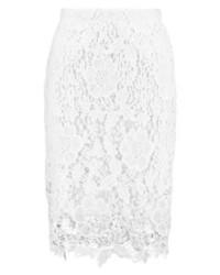 Falda Lápiz Blanca de Bik Bok