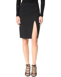 Falda lápiz con recorte negra de Versace