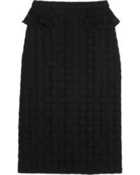 Falda lápiz de encaje negra de Burberry