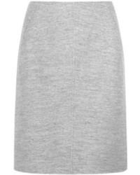 Falda lápiz de lana gris de Jil Sander