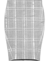 Falda lápiz de tartán gris