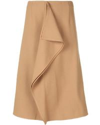 Falda lápiz marrón claro de Marni