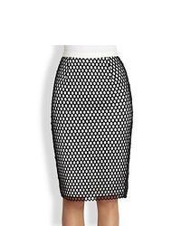 Falda lapiz negra y blanca original 4380071