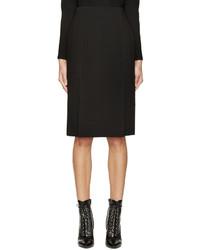 Falda lápiz negra de Alexander McQueen