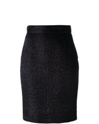 Falda lápiz negra de Moschino Vintage
