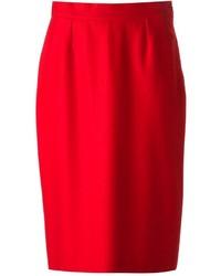 Falda lápiz roja de Balenciaga