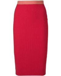 Falda lápiz roja de Fendi
