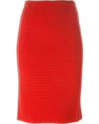 Falda lápiz roja de Giorgio Armani