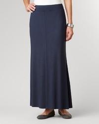 Falda larga azul marino original 1464549