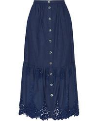 Falda larga azul marino de Miguelina