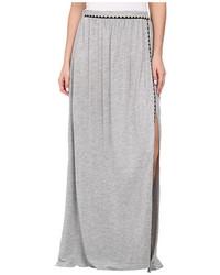 Falda larga con recorte gris