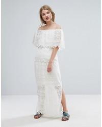 Falda larga de encaje blanca de Vila
