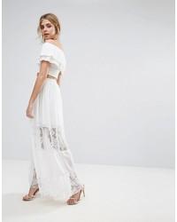 7b7e135ce Comprar una falda larga de gasa blanca: elegir faldas largas de gasa ...