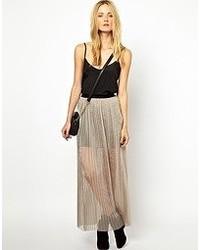 5d8cec4bf Comprar una falda larga de gasa gris: elegir faldas largas de gasa ...