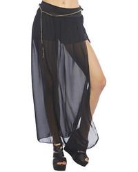 effc0d280 Cómo combinar una falda larga de gasa negra (10 looks de moda ...