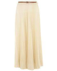 c743037ed Comprar una falda larga de gasa plisada en beige: elegir faldas ...