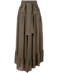 Falda larga de lana marrón de See by Chloe