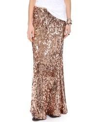 8e31543b0 Comprar una falda larga de lentejuelas dorada: elegir faldas largas ...