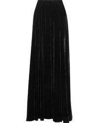 Falda larga de terciopelo negra de Etro