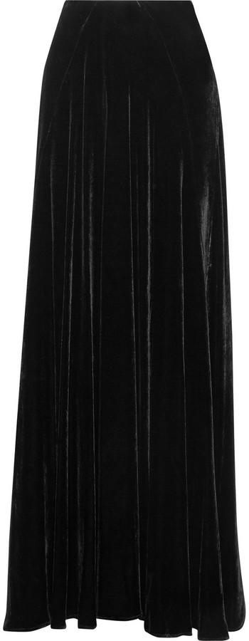 49c7ce5aeb71 Falda larga de terciopelo negra de Etro