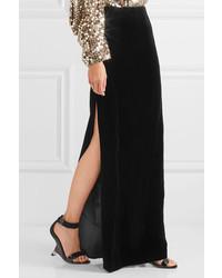 995033e2152f Falda larga de terciopelo negra de Tom Ford, €1,126 | NET-A-PORTER ...