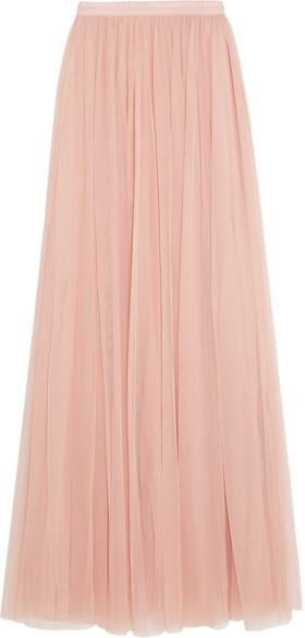 2081c0cf5 Falda larga de tul rosada de Needle & Thread