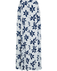 Comprar una falda larga estampada celeste  elegir faldas largas ... d2ea8d9fdeeb