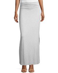 Falda larga gris