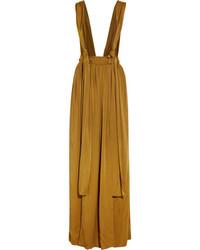 Falda larga mostaza de Lanvin