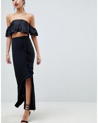 Falda larga negra de ASOS DESIGN