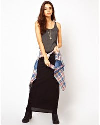 Falda larga negra de Only