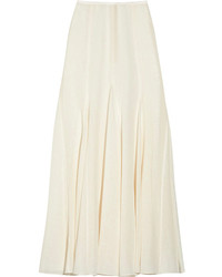 Falda larga plisada blanca de Michael Kors