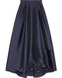Falda larga plisada negra de Alberta Ferretti