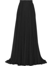 Falda larga plisada negra de Elie Saab