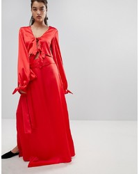 Falda larga roja de Style Mafia