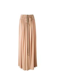 Falda larga rosada de Lanvin
