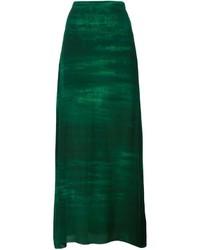 Falda larga verde oscuro