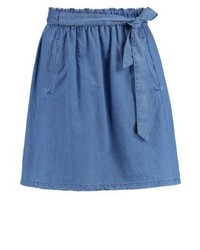 Falda Línea A Azul de Esprit