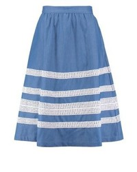 Falda Línea A Azul de mint&berry